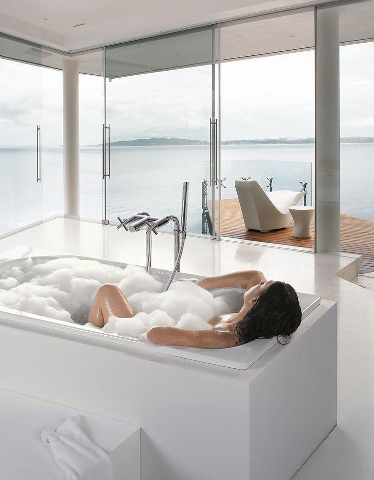 Grifería para borde de bañera de TRES Grifería #biMAX #bañera #TRESGriferia #Vallirana #spain
