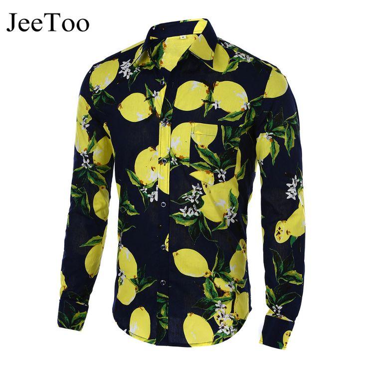 Mens Shirts Hot 2016 Fashion Long Sleeve Print Floral Shirt Men Slim Fit Shirts Men's Casual Hawaiian Shirt Camisa Masculina //Price: $19.72 & FREE Shipping //     #hashtag4