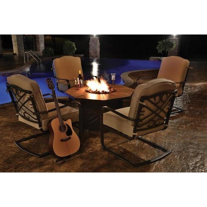 Harmony 5 Piece Fire Pit Patio Set