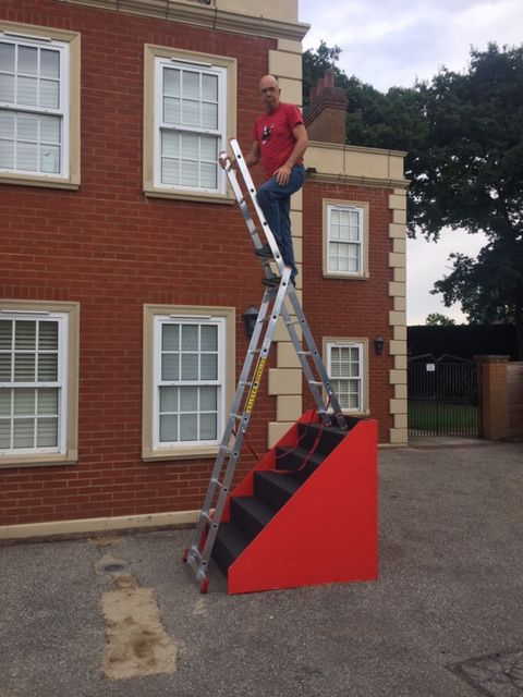 2 Section Stair Combination Ladders