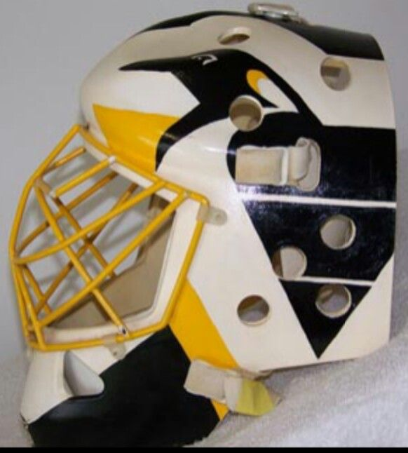 Old time Tom Barrasso mask, Pittsburgh Penguins.
