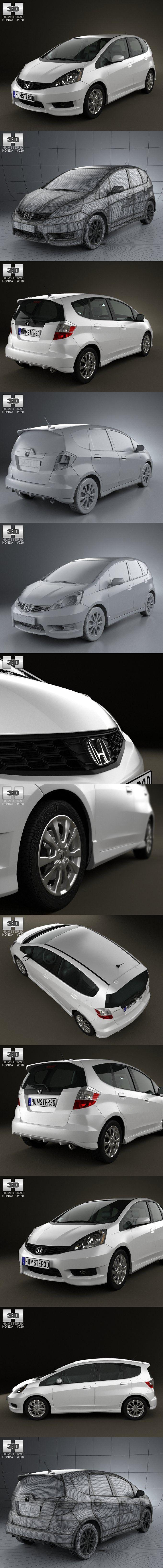 Honda Fit Sport 2012. 3D Vehicles