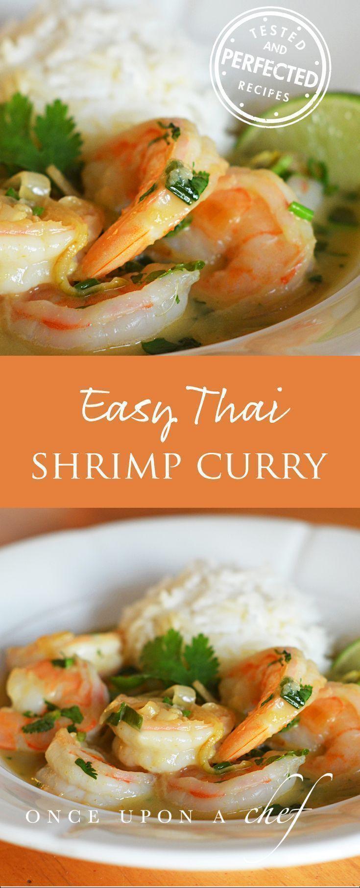 Easy Thai Shrimp Curry #shrimprecipes #thaicurry
