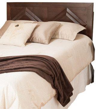 Bennett Parish Queen Sized Brown Mahogany Headboard - craftsman - headboards - Great Deal Furniture