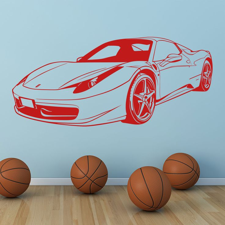 Ferrari Front Sports Car Wall Stickers Nontoxic PVC Wall decal Transport Art Decals Decor Wallpaper New Arrivals Mural SA333 //Price: $18.94 & FREE Shipping //     #hashtag3