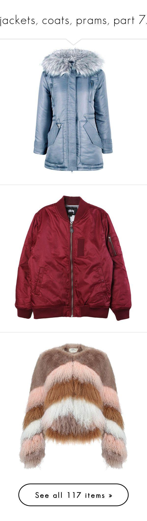 """jackets, coats, prams, part 7."" by trillestqueen ❤ liked on Polyvore featuring outerwear, coats, blue parka coat, faux fur hood coat, petite parka coats, petite coats, blue coat, jackets, tops and clothing - outerwear"