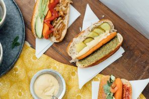 Vegan carrot hotdogs, Gezonde hotdogs maken, Vegetarische hotdogs recepten, Hotdogs zonder vlees, Veganistische diner recepten, Recepten Lisa Goes Vegan