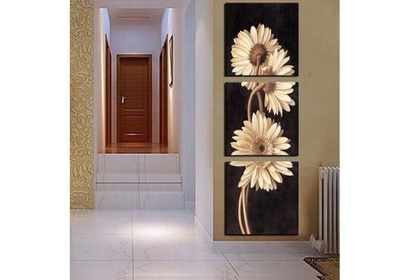 2017 Fashion 3 Panel Beautiful Chrysanthemum Hot Sell Modern Wall Painting   Flower Home Wall Art Picture