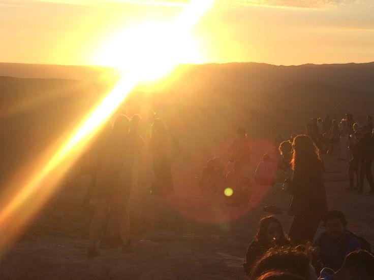Atardecer, Valle de la Luna, San Pedro de Atacama, Chile, fotografía de Luis Echeverría Sevilla