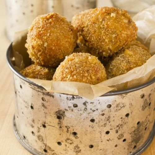 Emeril's Boudin Balls with Creole Mustard Dipping Sauce : GoNOLA Recipes at Home - 4/13/14