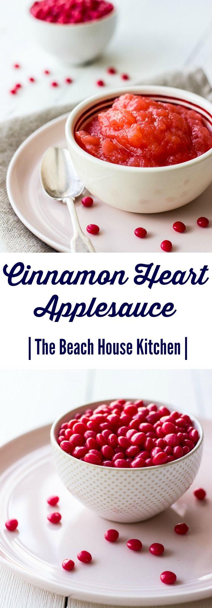 Cinnamon Heart Applesauce