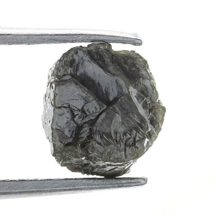 0.99 CARAT ROUGH DIAMOND OUT FROM DIAMOND MINES SILVER GRAY NATURAL  DIAMOND