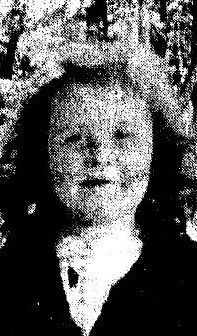 Portrait taken in Hartford in 1944 of 5 year old Joan Lee Smith smiling calmly at the camera. Joan and her mother were victims of Hartford circus fire on ...