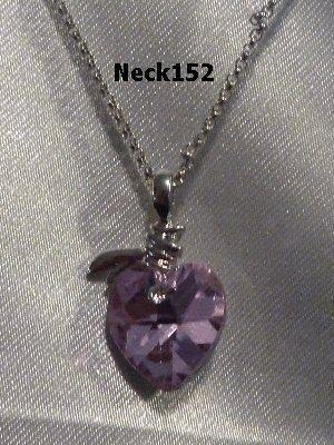 Necklace Mauve Heart #Nek152