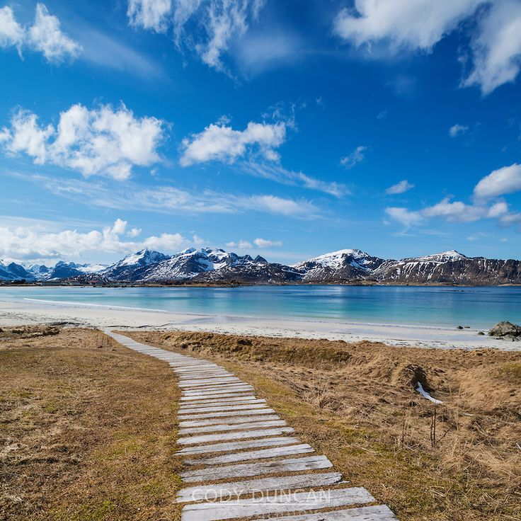Ramberg Beach, Lofoten Islands, Norway (photo cred…