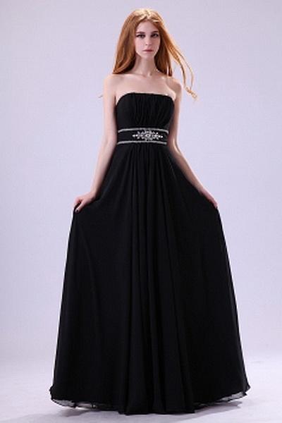 Classic Strapless Sheath-Column Evening Dress wr2457 - http://www.weddingrobe.co.uk/classic-strapless-sheath-column-evening-dress-wr2457.html - NECKLINE: Strapless. FABRIC: Chiffon. SLEEVE: Sleeveless. COLOR: Black. SILHOUETTE: Sheath/Column. - 153.59