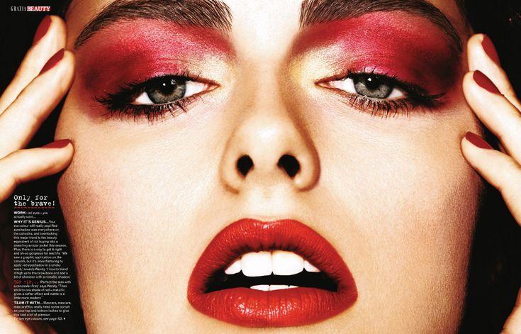 http://www.eyeshadowlipstick.com  Grazia - 100 HOT!  Photographer: Jonas Bresnan  Model: Darla Baker