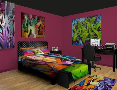 Graffiti Bedroom Ideas At Visionbedding