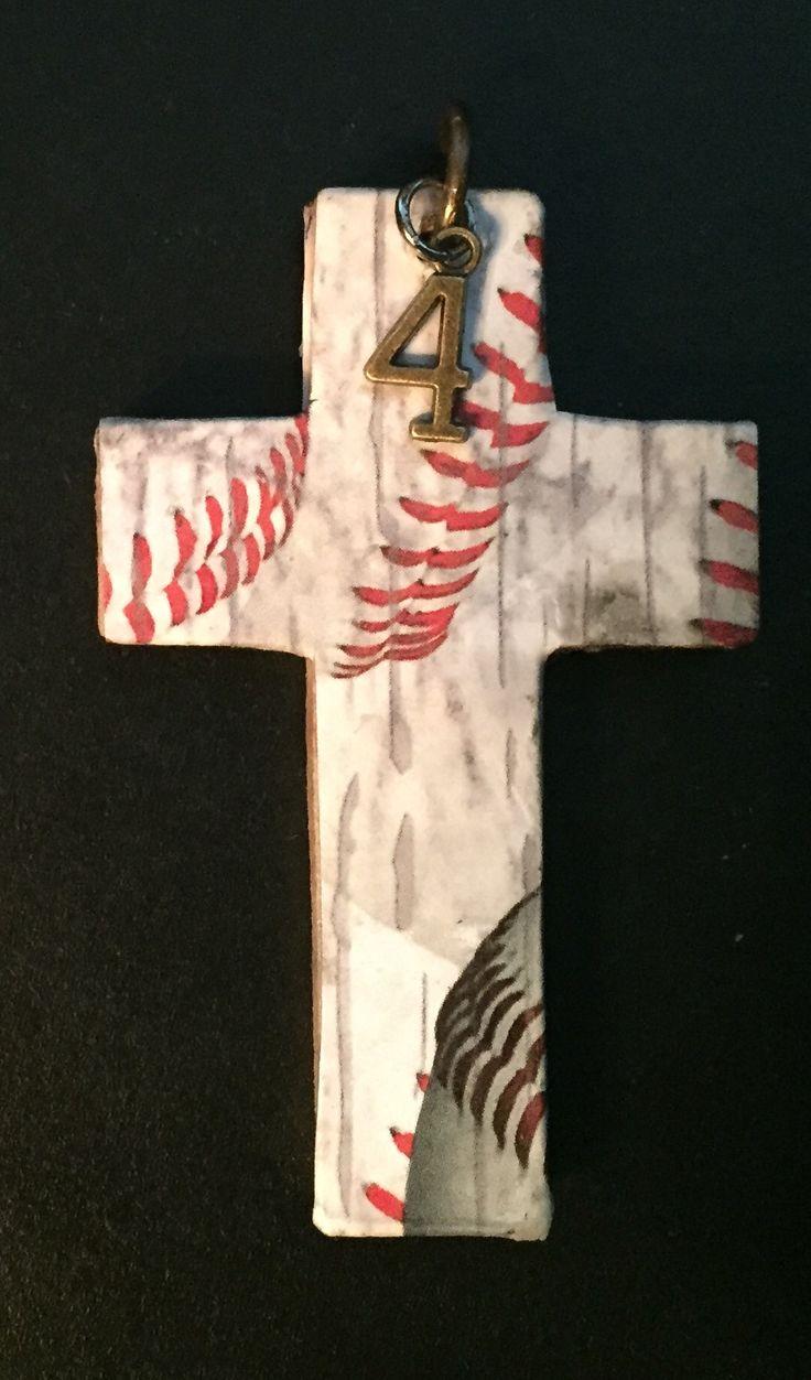 baseball cross pendant- ooooooo I want this!