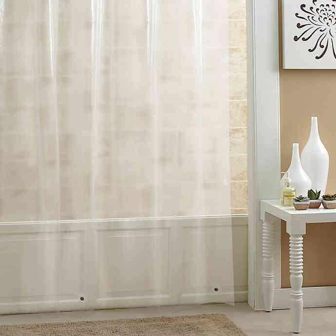 Salt Peva Shower Curtain Liner In 2020 Vinyl Shower Curtains