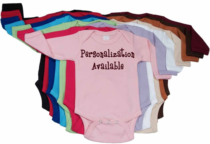 Solid+Color+Onesie+-+Long+Sleeve+(Select+Color)