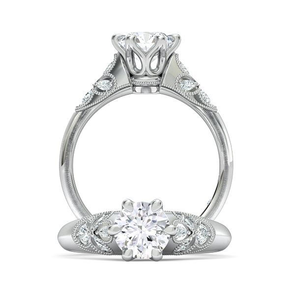 1.1ctw platinum engagement ring
