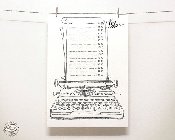 DOODLE To Do List / Organizer  Printable A4 and von SkyGoodies
