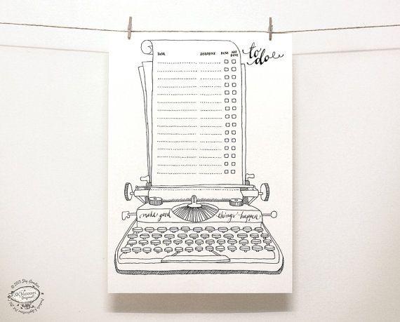 DOODLE To Do List / Organizer | Printable A4 and Letter pdf templates | Unique…