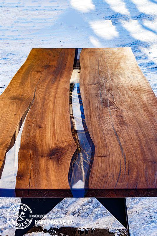 Обеденный стол Element-1 - большой обеденный стол из массива дерева на заказ