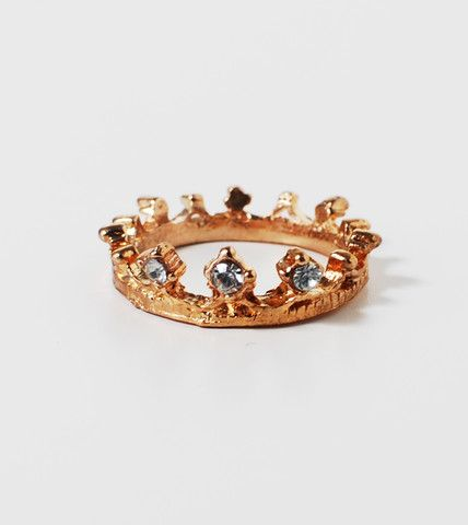 Sparkling Crown Ring | Fashion Statement Jewelry Rings | HOTTT.COM