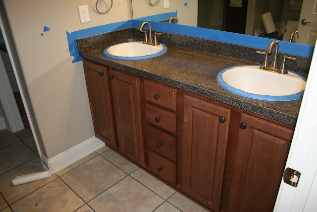 Rustoleum Countertop Paint For Bathroom : and bathrooms tops cabinets cant wait bathroom rust sinks burgundy ...