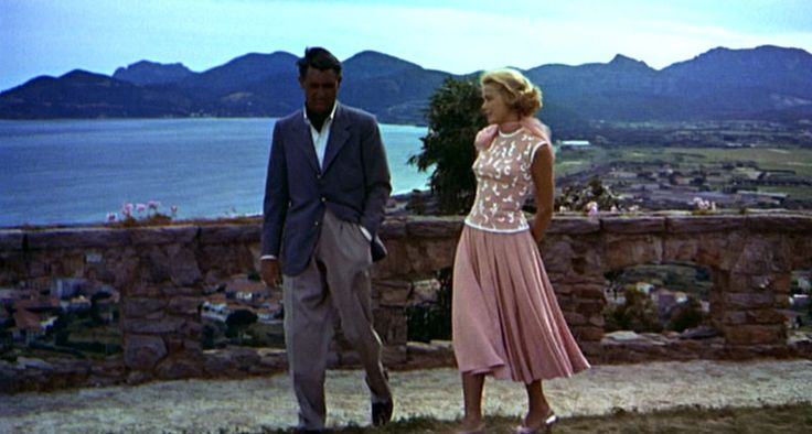 pink isn't my fav color, but I do like this-To Catch a Thief_Grace Kelly, Cary Grant coral top, skirt_front full: