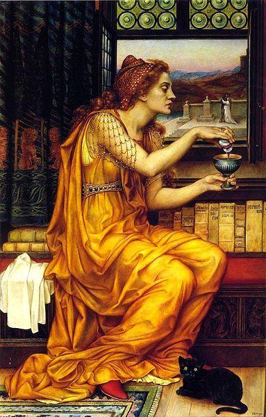 Como criar e utilizar sua própria poção - Oficina das Bruxas. (A poção do amor, de Evelyn de Morgan, pintora pré-rafaelita - Inglaterra entre 1850-1919.)