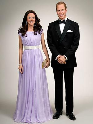 will and kate's wax figures at madame tussauds! looks just like them!