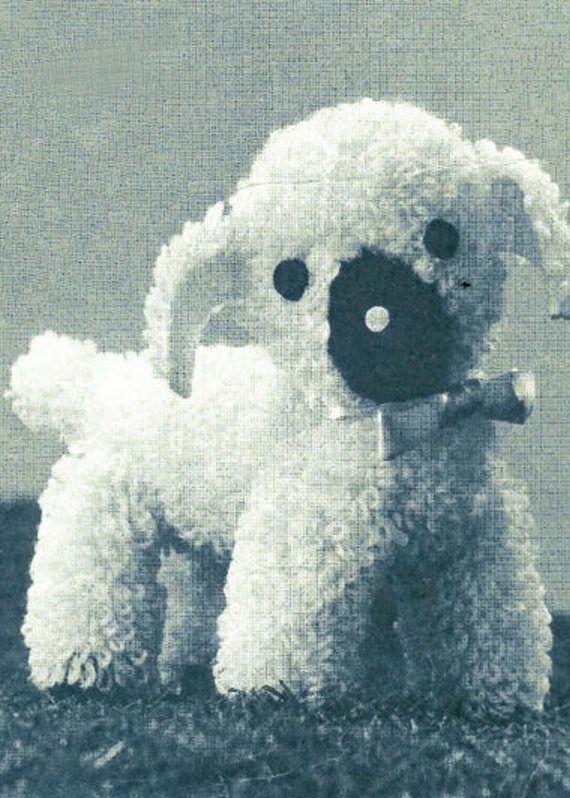 PDF  Vintage Toy Crochet Pattern LUCKY Lamb  1950s  Lavenda