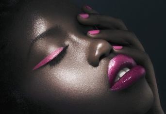 Makeup: Kate BlaineyAfrican American, Amazing Art, Pink Nails, Darker Beautiful, Beautiful African, Gorgeous Makeup, Beautiful Exclusively, Black Beautiful, Neon Pink
