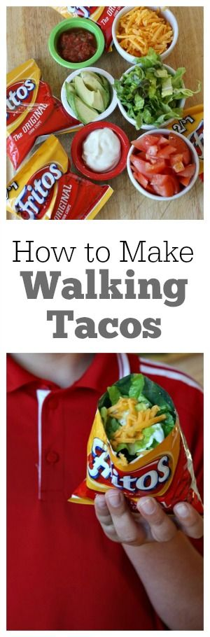 How to Make Walking Tacos : such a fun an easy recipe for a party!  Perfect for SuperBowl!