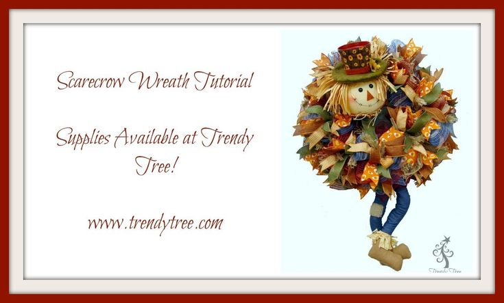 DIY Pot Head Scarecrow Wreath by Trendy Tree