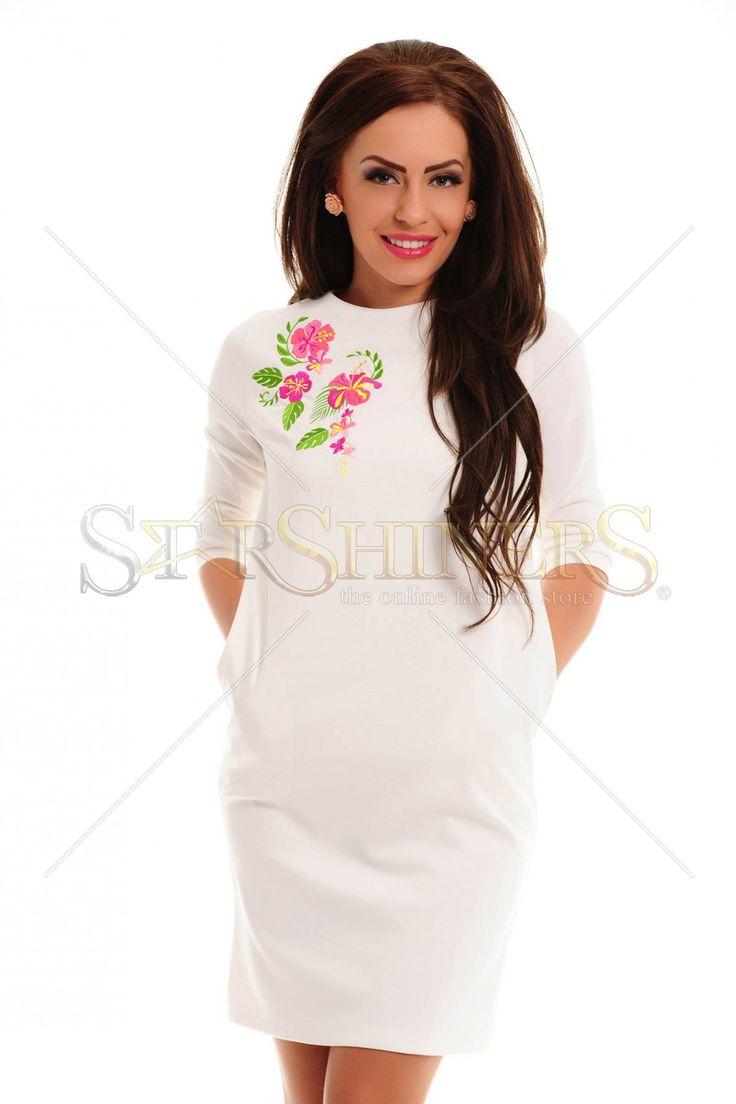 StarShinerS Brodata Exotic White Dress