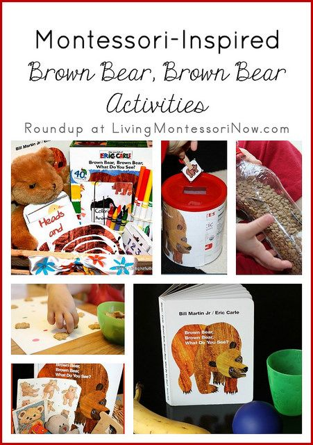 List of free Brown Bear, Brown Bear printables plus roundup of Montessori-inspired Brown Bear, Brown Bear, What Do You See? activities
