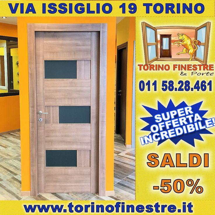 IMPERDIBILE OFFERTA!!! #Porta_interna intelaiata con vetri satinati antinfortunistici da 6/7mm a #prezzi_fabbrica #online. L'alternanza di vetro e legno garantisce ingresso di luce e un'estetica invidiabile. Vieni in #Via_Issiglio a #Torino per avere il tuo #preventivo gratuito!!!