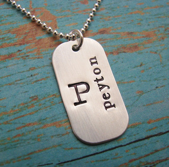 NEW  mommy dog tag  hand stamped sterling silver by juliethefish, $35.00