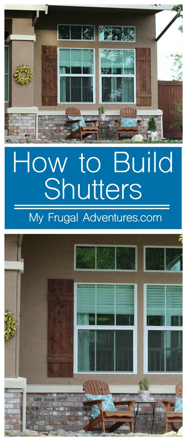 How to build outdoor shutters How to make exterior shutters
