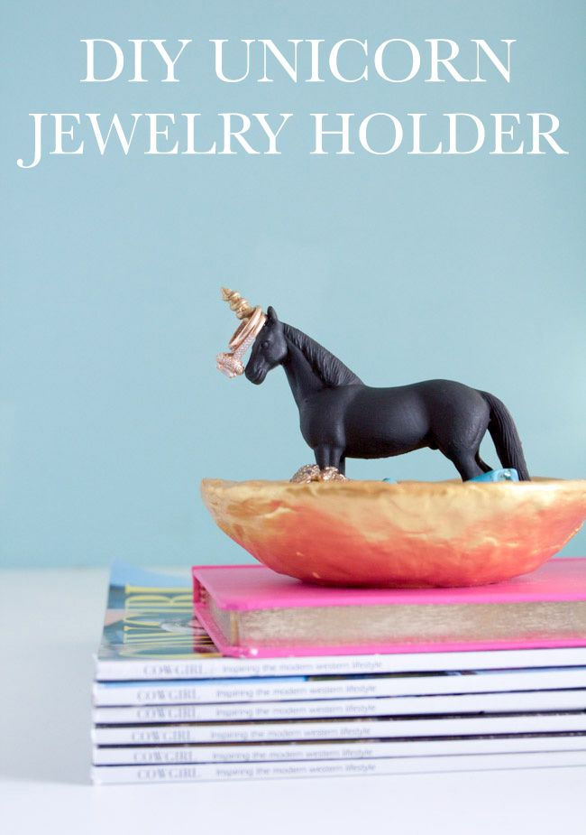 Store rings, earrings and jewelry stylishly with a Unicorn Jewelry Holder - it's an easy DIY!
