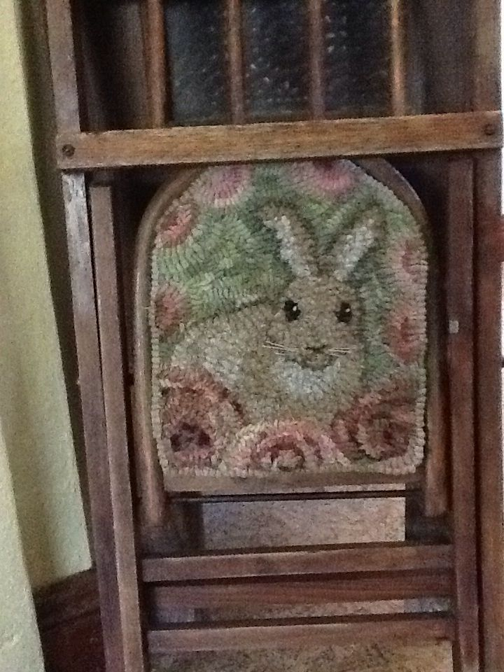 Linu0027s Primitive By Design, Sweet Bunny To Welcome Spring Chair Pad