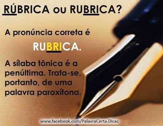 PoRtUgUêS nA TeLa: ruBRIca ou RÚbrica?