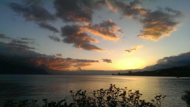 Beautiful #Montreux #Sunset Switzerland