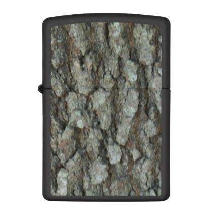 #rustic - #Oak Tree Bark Camouflage Zippo Lighter