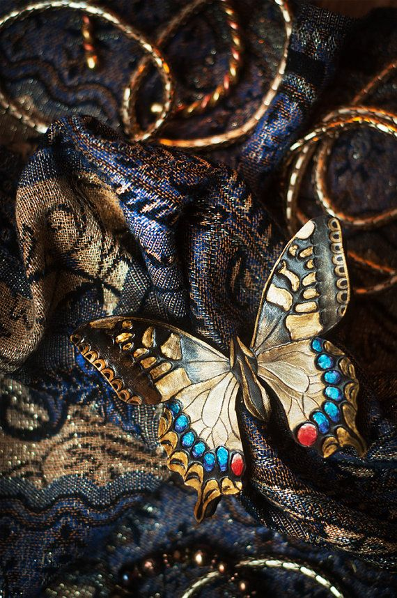 Swallowtail butterfly  hairpin barrette by 2Towers on Etsy