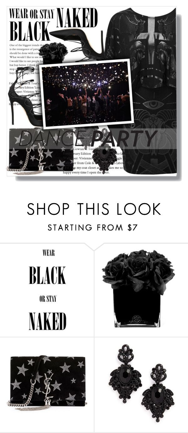 """""""Goth Dance Party!"""" by isabeldizova ❤ liked on Polyvore featuring Hervé Gambs, Yves Saint Laurent, Tasha, Dsquared2, danceparty, nyd and newyearsday"""